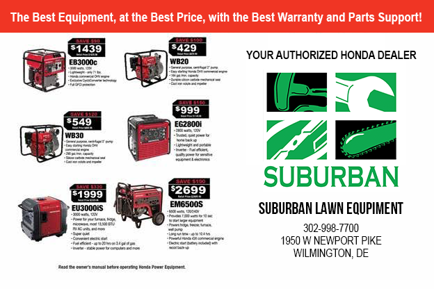 Honda Generators at Suburban Lawn Equipment